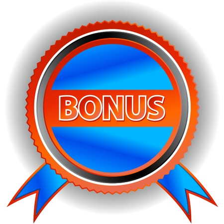 Blue bonus icon on a white background Stock Vector - 14397327