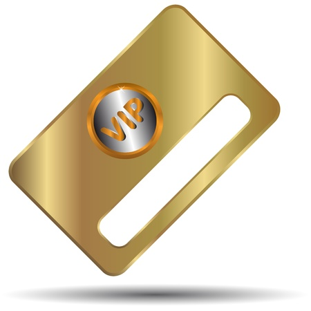 Gold vip card in unique style on a white background Vector