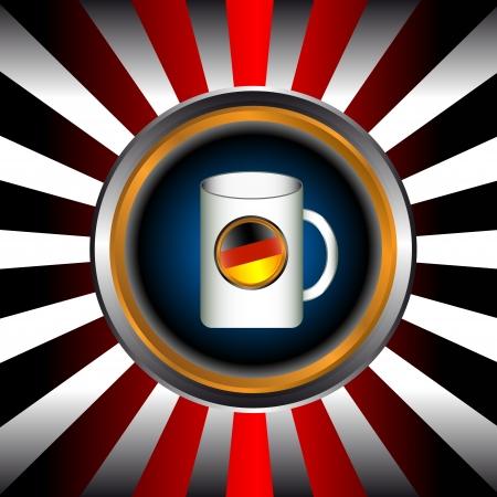 bretzel: Oktoberfest web icon in unique style