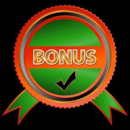 flysheet: Green bonus icon on a black background