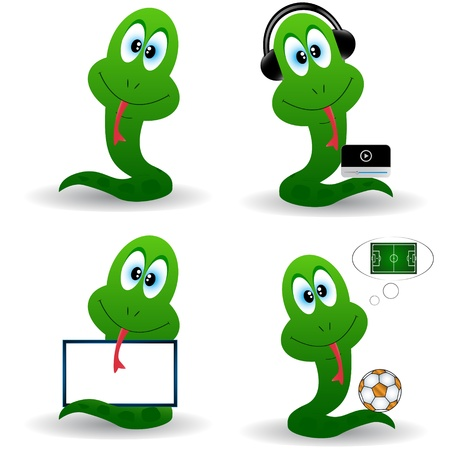 A set of snakes in different situations Vector