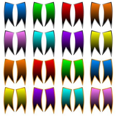 bordering: Cintas de varios colores y marcos sobre un fondo blanco