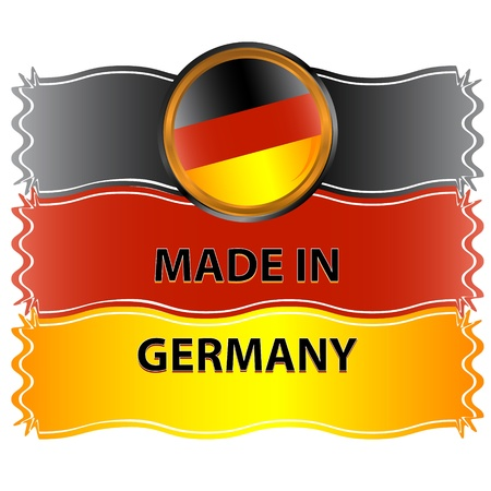 made in germany: Icon made in germany on a white background Illustration