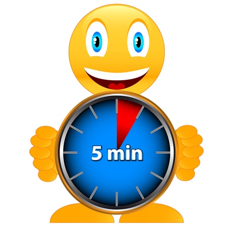 Unique icon of hours with five minutes  Vector