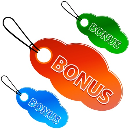 Bonus tags with price list on a white background (vector)  Vector