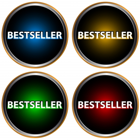 Four icons of the bestseller on a white background Illustration