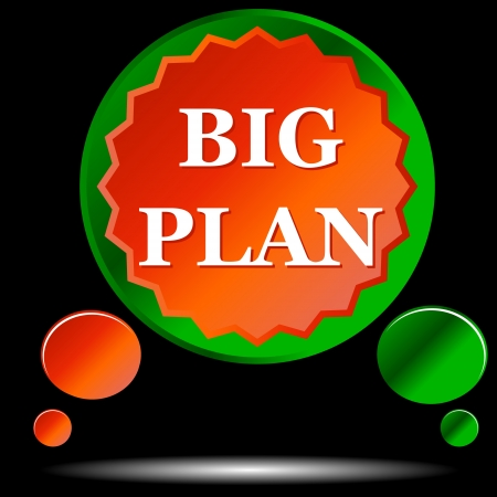 Icon big plan on a black background Stock Vector - 14966913