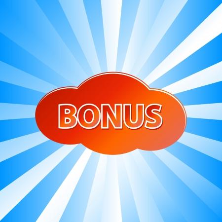 flysheet: Unique bonus icon located on a blue background Illustration