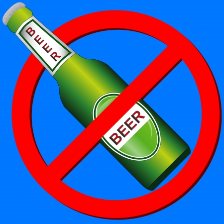 No beer symbol on a blue background Stock Vector - 15064897