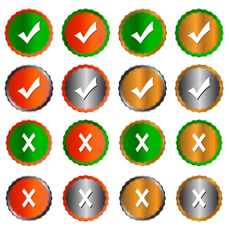 Many different types of buttons yes and no Stock Vector - 15064907