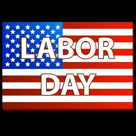 Labor day american on a black background. vector illustration Stock Vector - 15064885