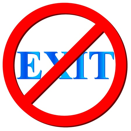 no way out: No exit icon on a white background. Vector illustration Illustration