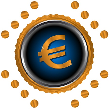 Sign of the European currency in unique style. Stock Vector - 15064936