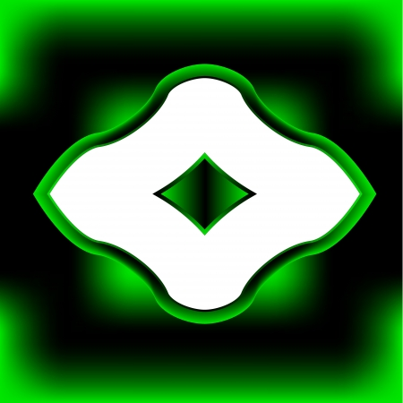 bordering: Marco original verde para el texto o una imagen.