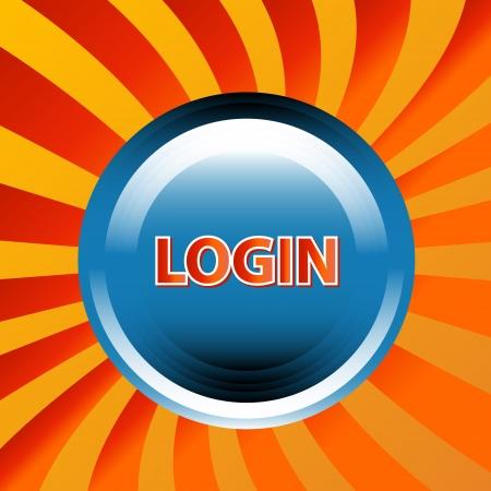 Login web icon in unique style. Stock Vector - 15064872