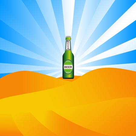 Abstract picture of beer in the desert Vector