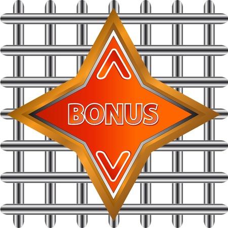 Unique plate a bonus on a white background Stock Vector - 15267098