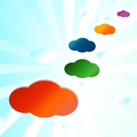 New abstract background from clouds of different color Stock Vector - 15322824