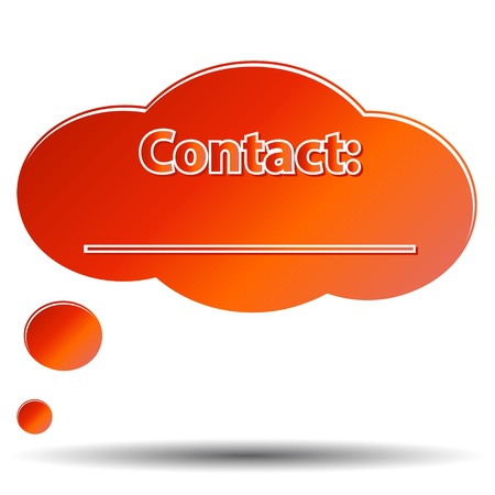Unique contact form located on a white background Stock Vector - 15355553