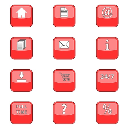 procent: Big set a web of red icons for design of your site