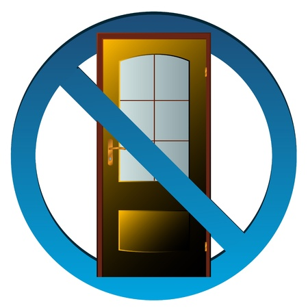 4 door: No exit icon on a white background Illustration