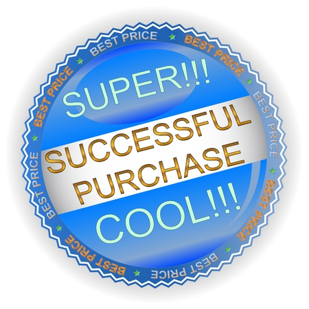 Unique successful purchase symbol located on a white background Vector