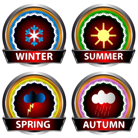 Set of labels in the form of four seasons Stock Vector - 15545132
