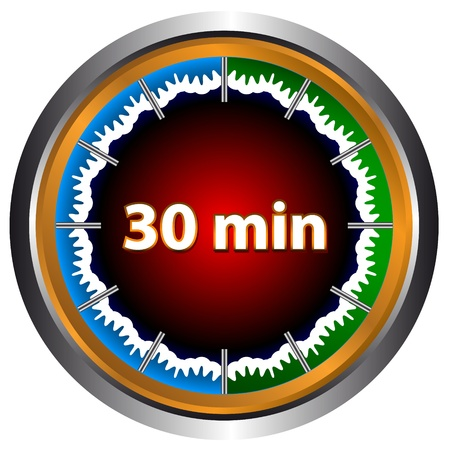 Unique icon of hours with thirty minutes Vector