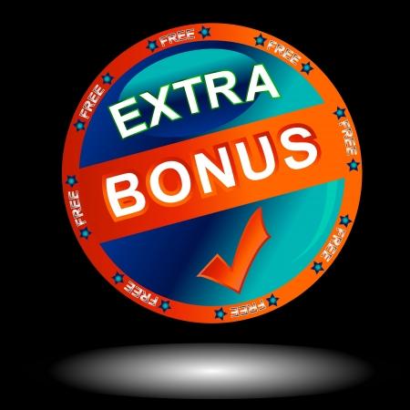 flysheet: Blue bonus icon on a black background