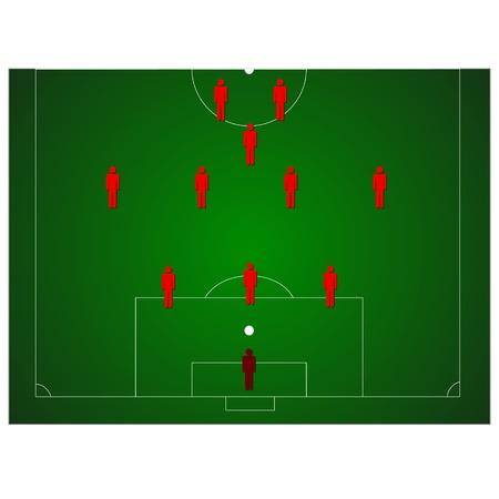 Unique football tactics Stock Vector - 15604941