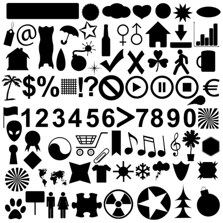big icons set on a white background.  Stock Vector - 15604955