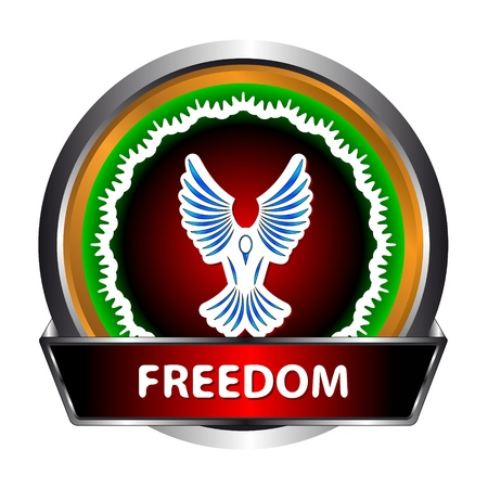goshawk: Freedom icon illustration, isolated on a white background Illustration