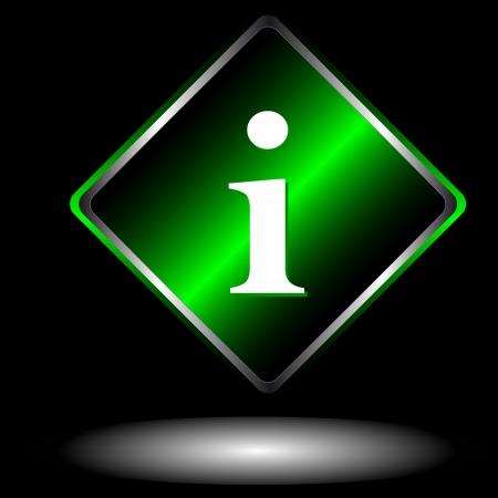 rekolekcje: Zielony symbol informacji na białym tle