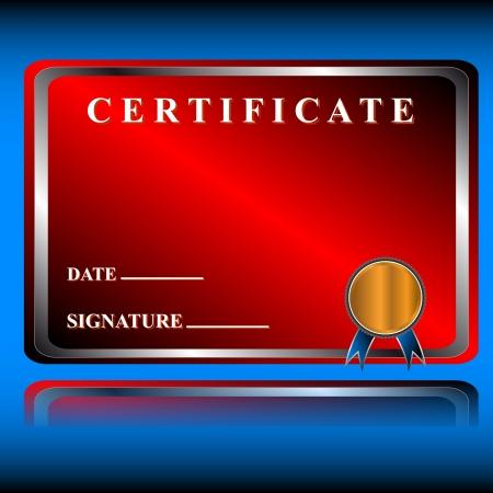 fondo de graduacion: El certificado de rojo en un estilo �nico en un fondo azul