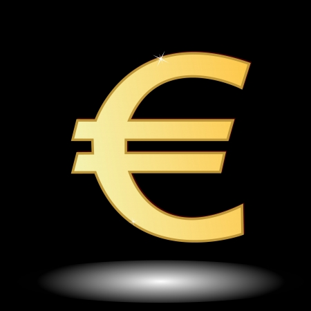Sign of the European currency in unique style Stock Vector - 15779060