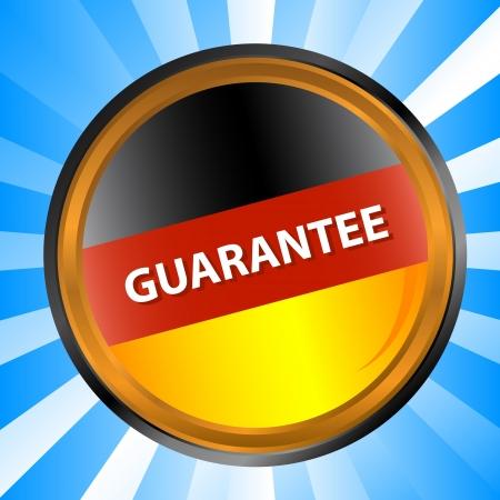 haltbarkeit: Deutsch Label Garantie auf einen einzigartigen Hintergrund Illustration
