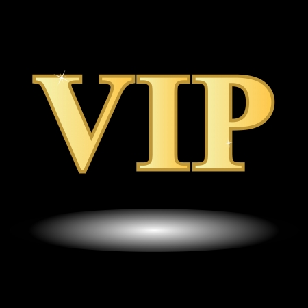 Unique vip symbol on a black background Vector