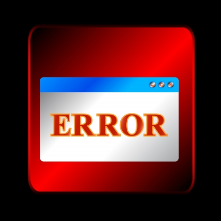 Red error symbol on a black background Vector