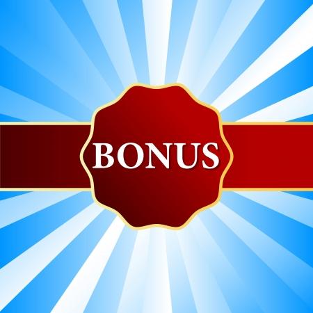 Unique plate a bonus on a blue background Stock Vector - 15829333
