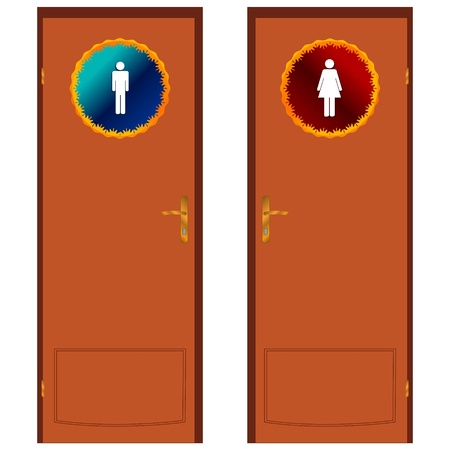Two types of doors on a white background Vector