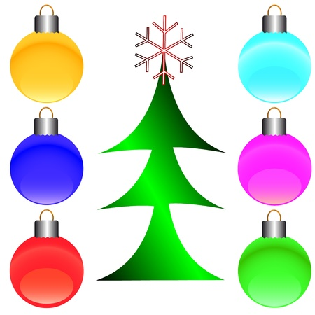 Merry Christmas set from different symbols on a white background Stock Vector - 16005707