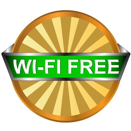 Wi Fi logotipo verde aislado sobre fondo blanco