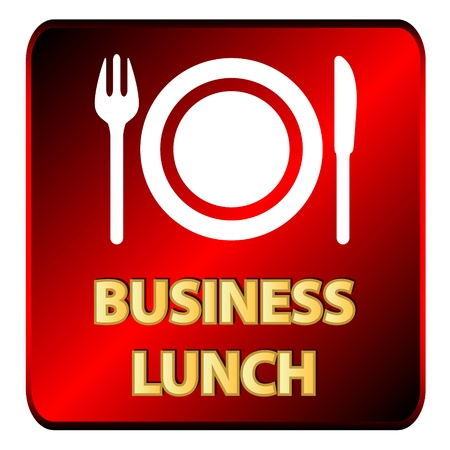 Business lunch logo on a white background Vector