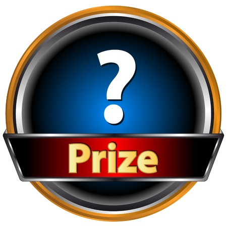 Prize logo located on a white background Vector