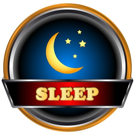 Sleep logo in unique style on a black background Vector