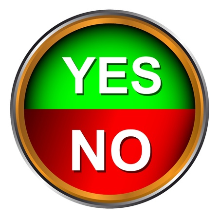 Button yes and no on a white background  Vector