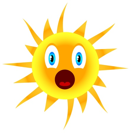 Sun icon located on a white background Stock Vector - 16098997