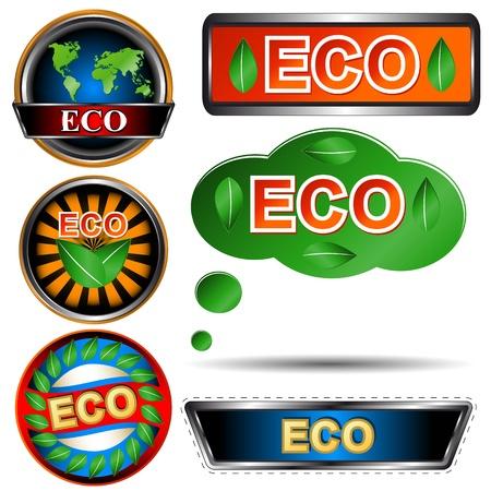 Eco logo set on a white background Stock Vector - 16259063