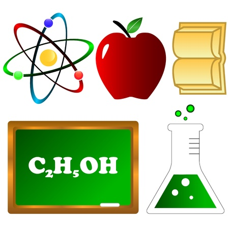 Set on a scientific subject on a white background Stock Vector - 16259038