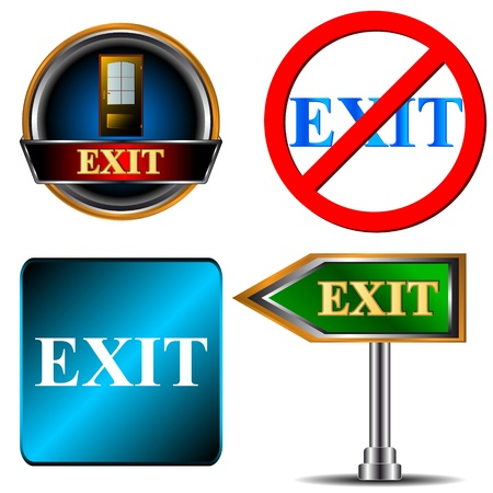 Exit logo set on a white background Vector